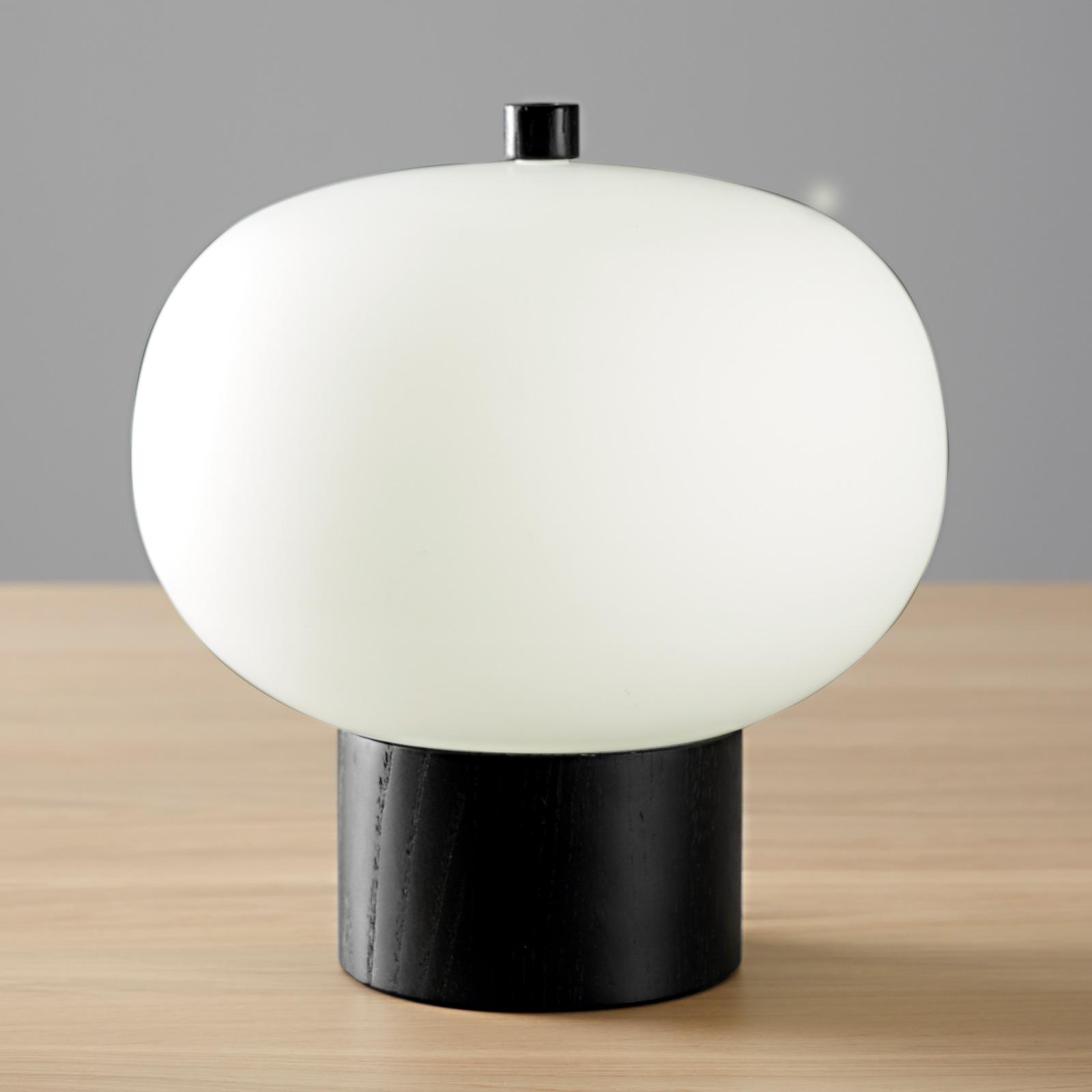 Grok iLargi LED-Tischlampe, Ø 24 cm, dunkle Esche