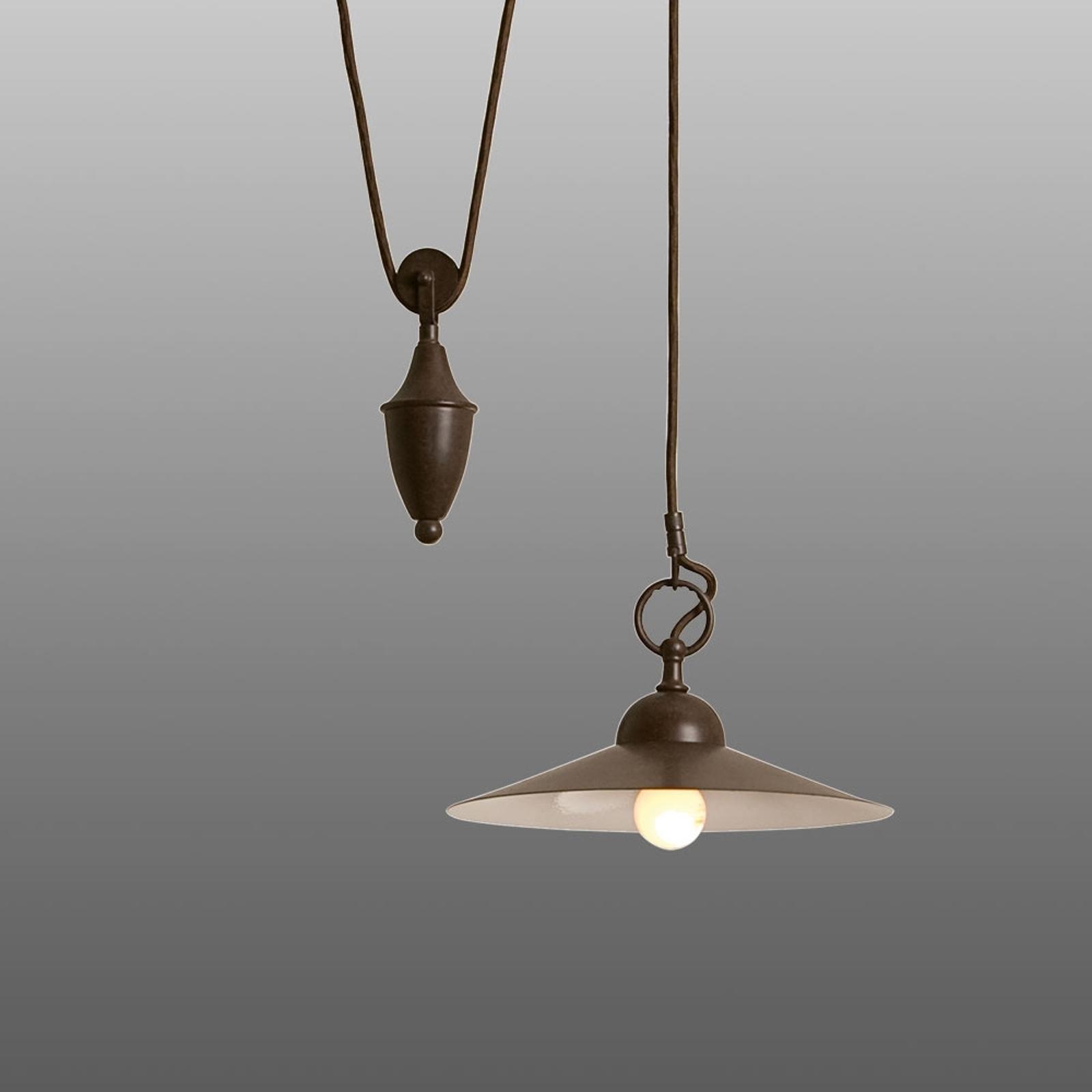 Lampa wisząca z regulacją wysokości Pusta
