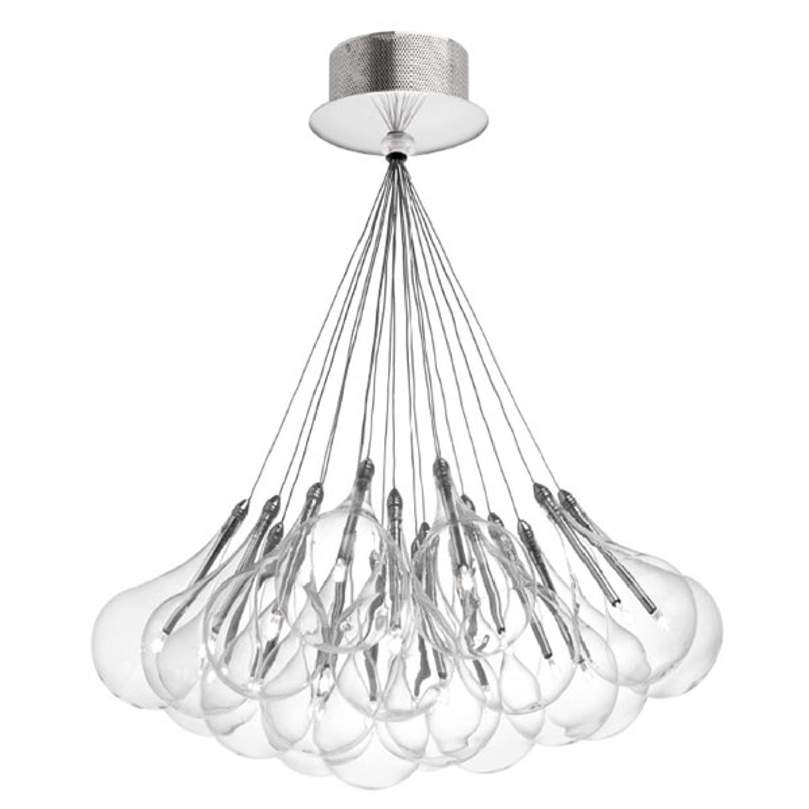 LED-hänglampa Drop S, 19 lampor