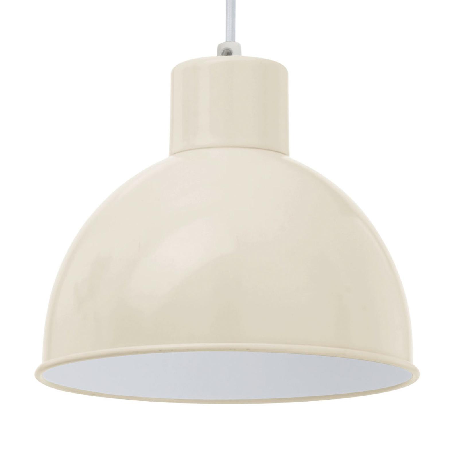 Lampa wisząca ANDRIN, piaskowa - białe wnętrze