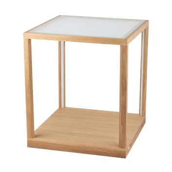 Stół pomocniczy Tavoli z szybą z mlecznego szkła