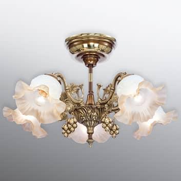 Rikligt dekorerad taklampa Albero – 5-flammig