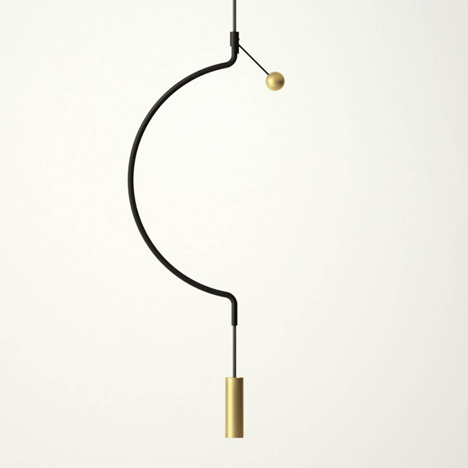 Axolight Liaison P1 suspension noir/doré 32cm