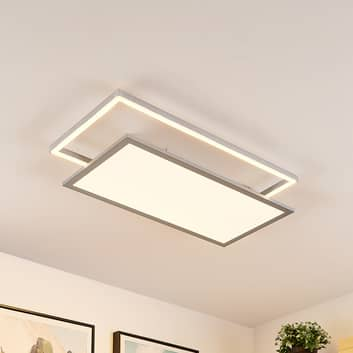 Lucande Senan -LED-kattovalaisin, suorakaide, CCT