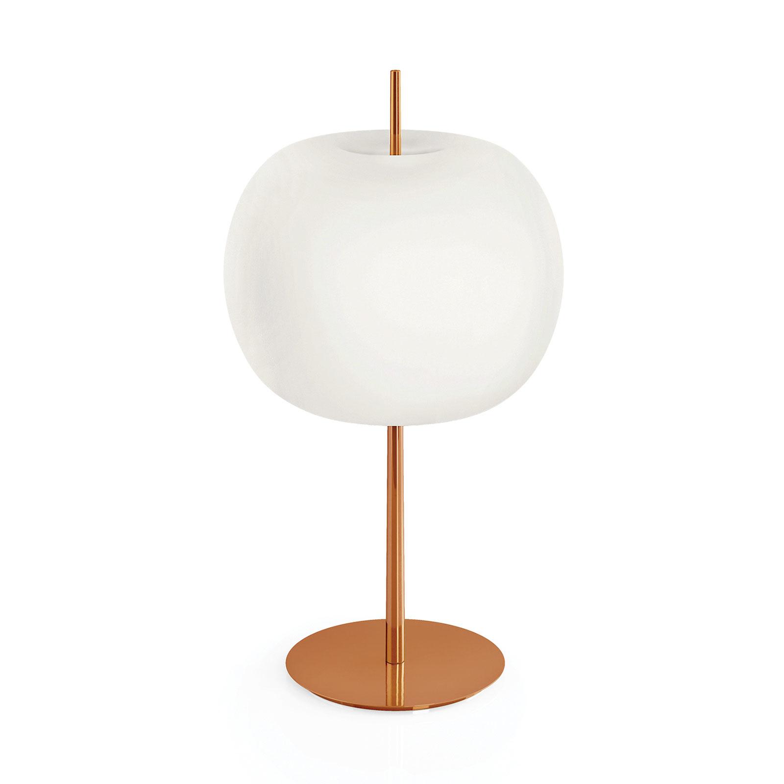 Kundalini Kushi XL lampa stołowa miedziana/biała