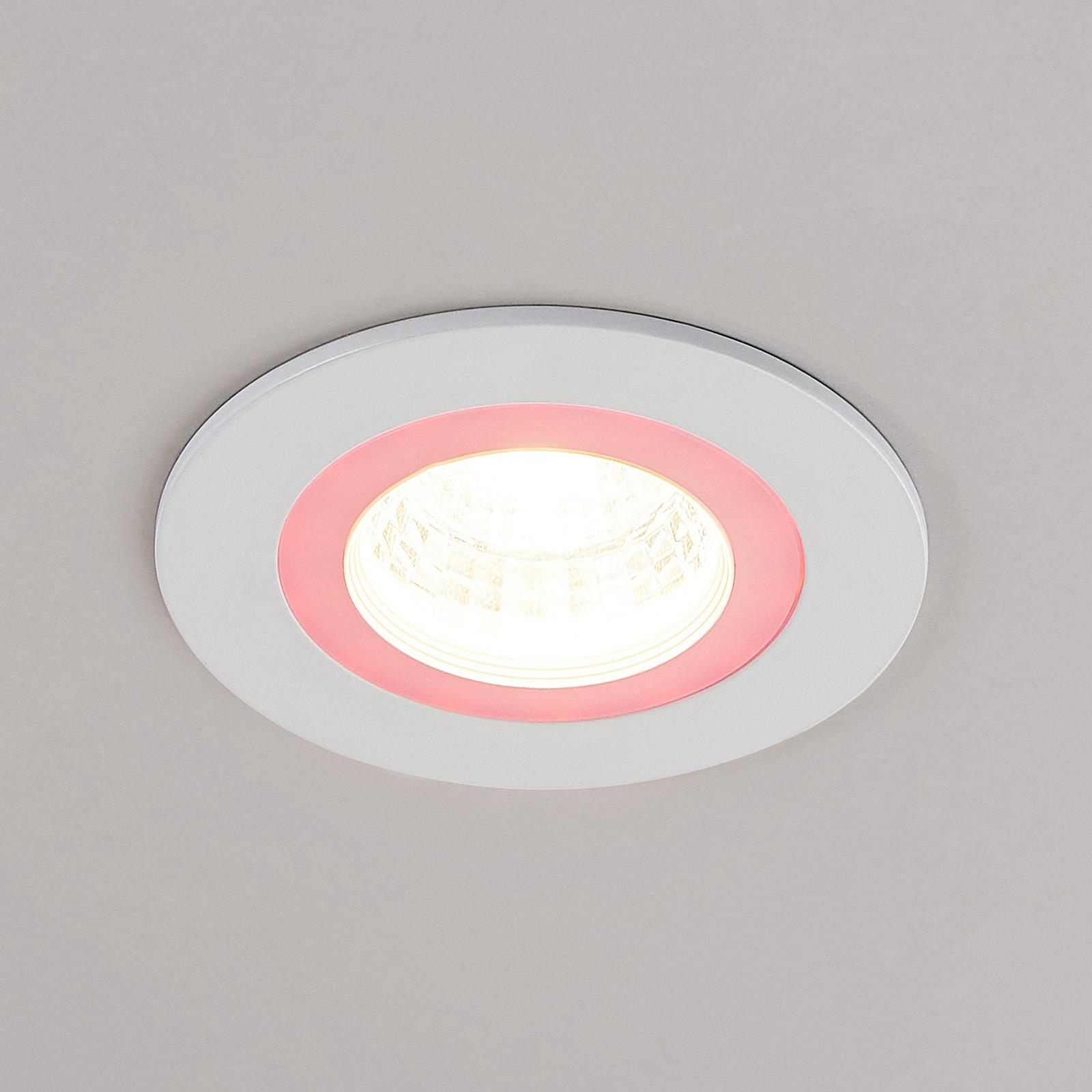Lindby Noor spot encastrable LED, RGBW, blanc
