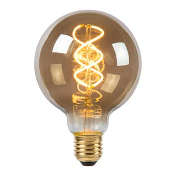 LED bollamp G95 E27 5W 2.200K rookgrijs