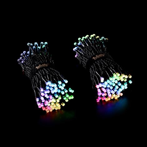 Ghirlanda luminosa Twinkly RGBW nero 400 luci 32m