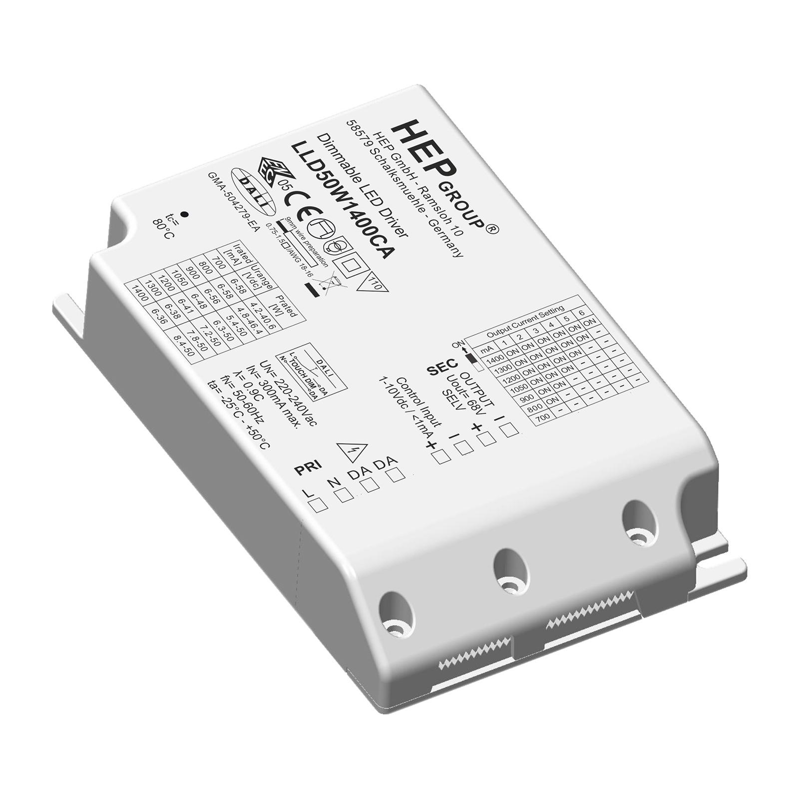 LED driver LLD, 50 W, 1400 mA, dimbaar, CC