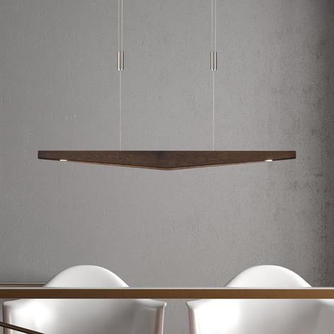 Lucande Dila -LED-riippuvalo siirtomaatammi 88 cm