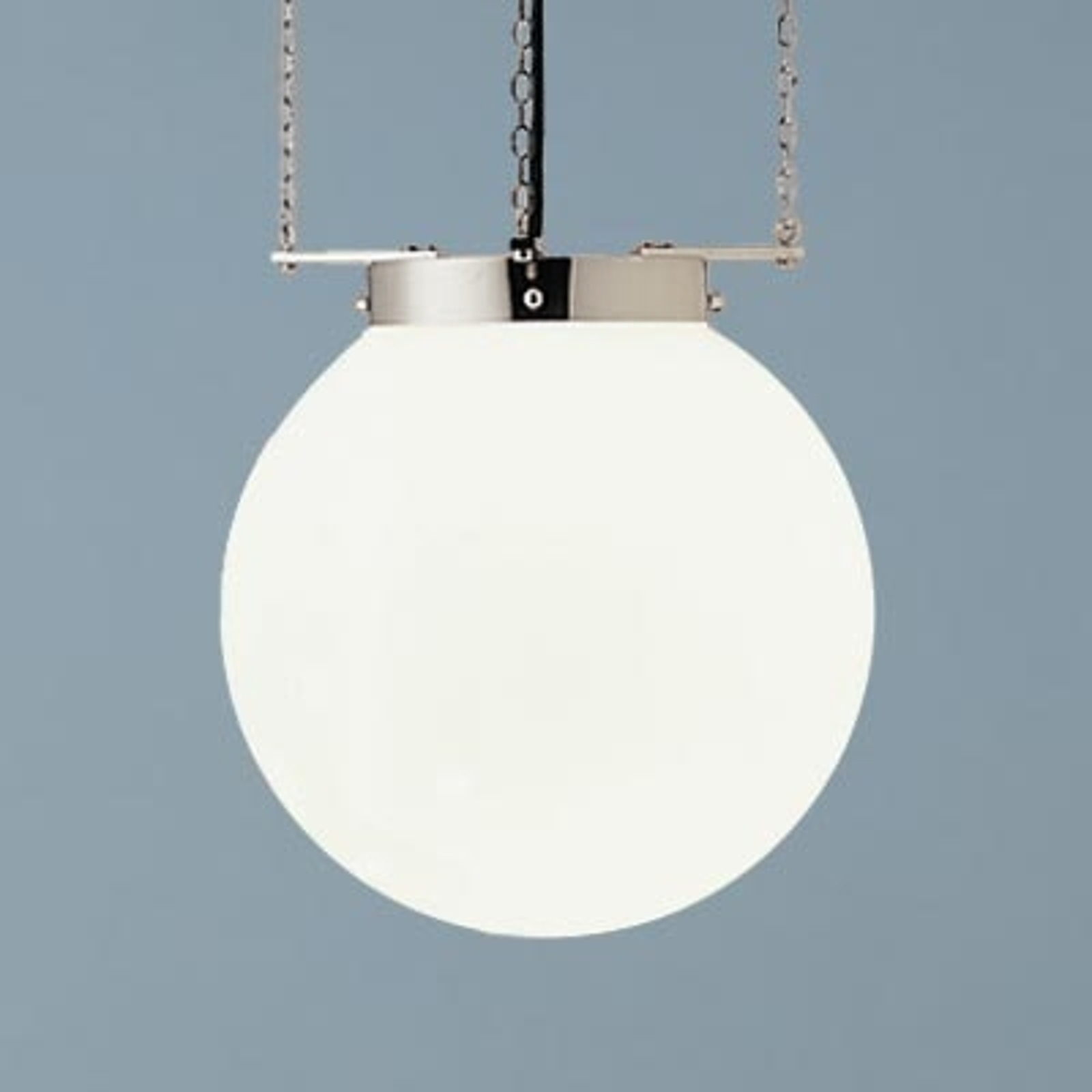Suspension nickel style Bauhaus 25 cm