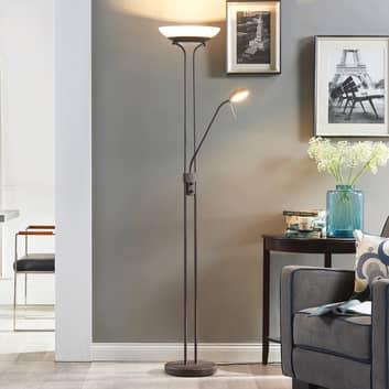 Yveta - rdzawobrązowa lampa ośw. sufit LED, ściem.