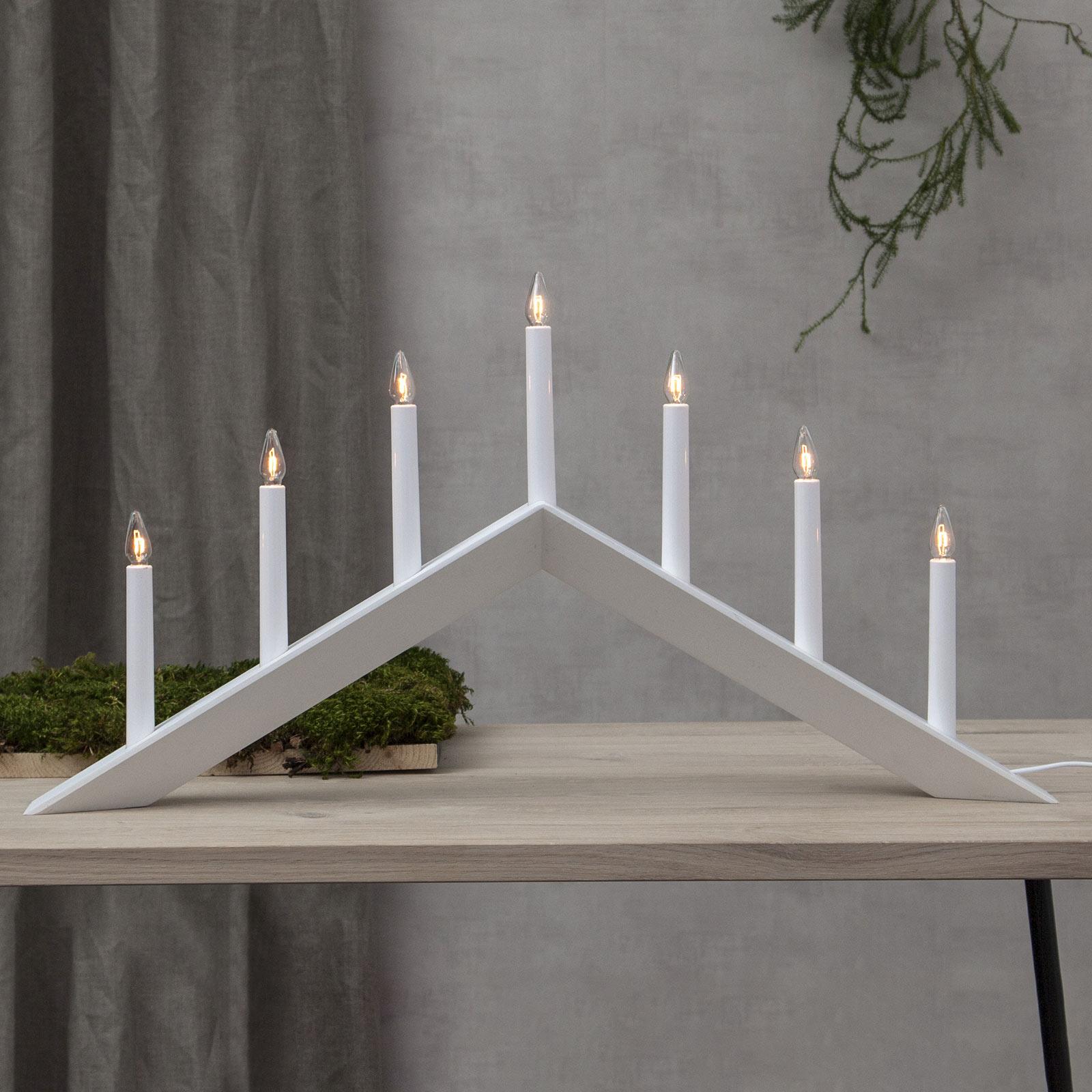 Lysestake Arrow, flat, 7 lyskilder, hvit