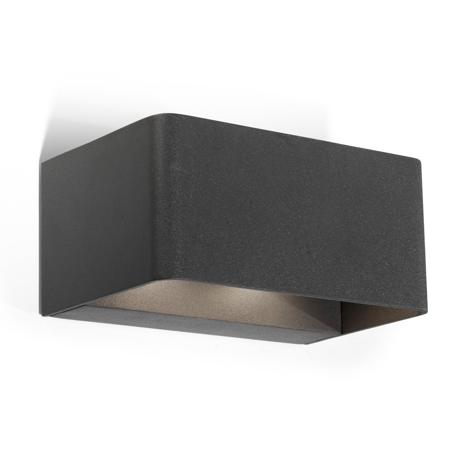 LEDS-C4 Wilson applique ext. LED, 19 cm anthracite