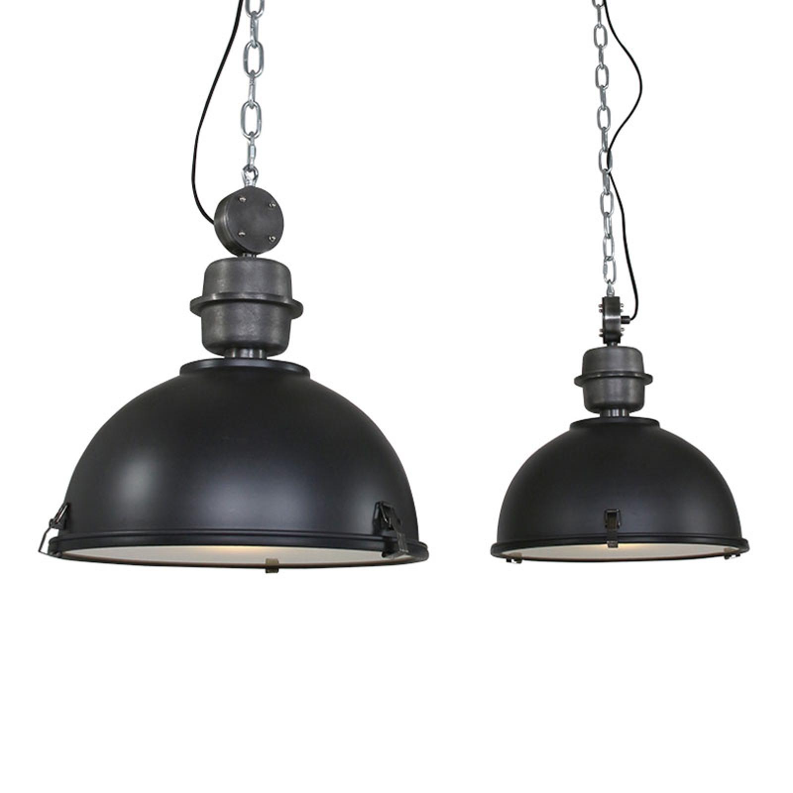 Suspension Bikkel 2 lampes, noir