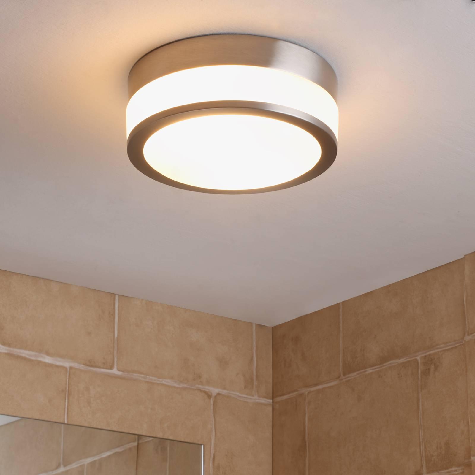 Badkamer-plafondlamp Flavi, mat nikkel
