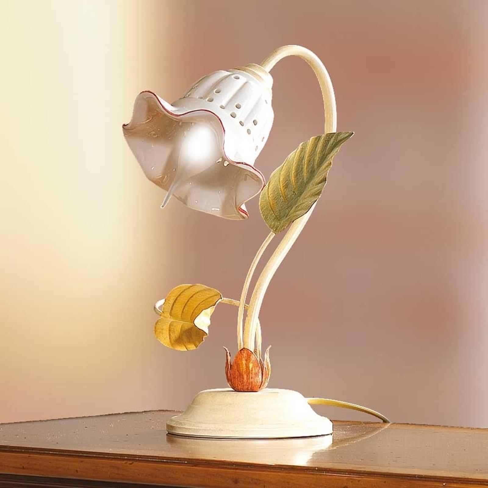 Lámpara de mesa Flora en estilo florentino