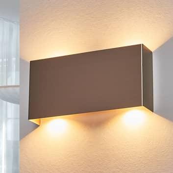 LED-Wandleuchte Manon, nickel satiniert, 22 cm