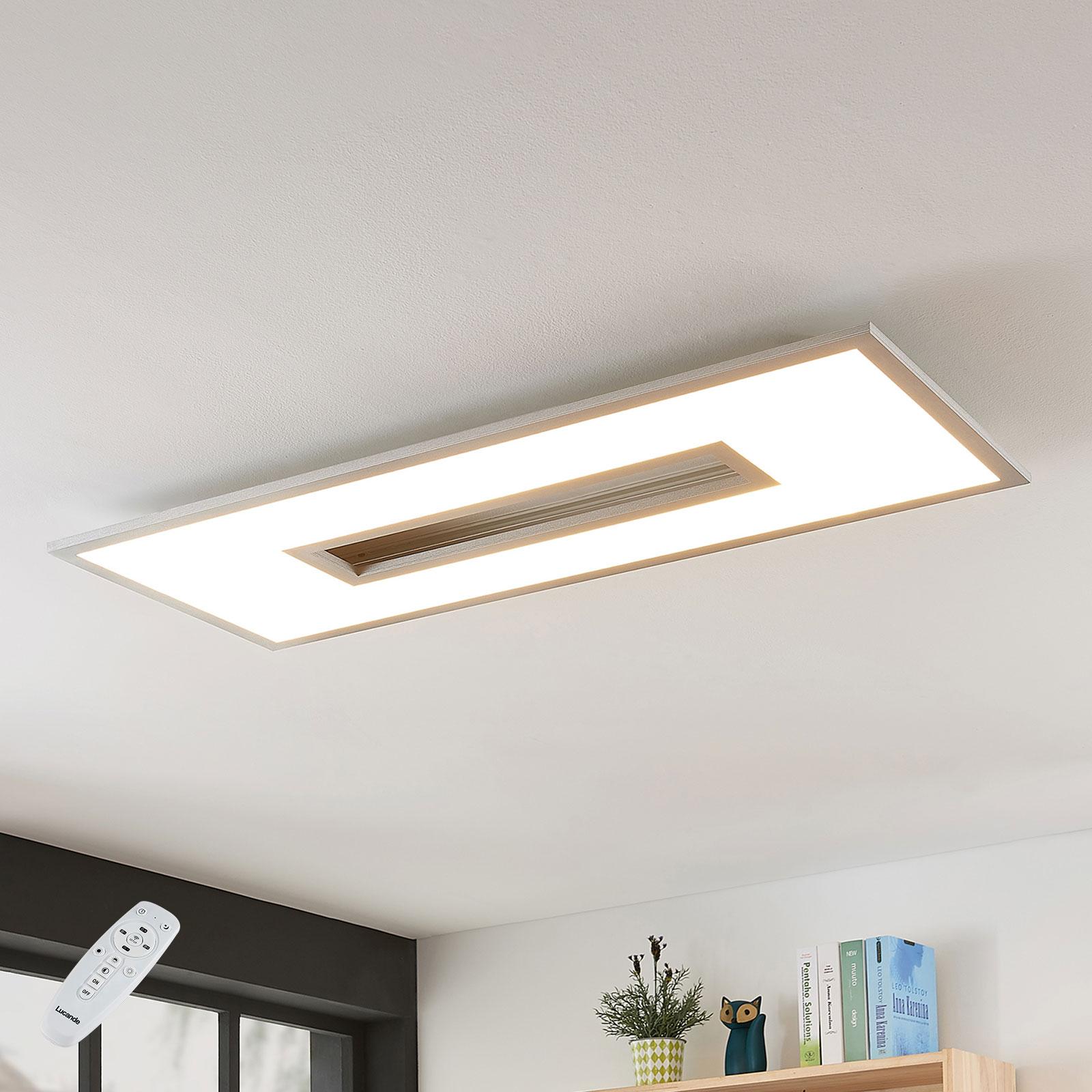 LED-Deckenlampe Durun, dimmbar, CCT, eckig, 96 cm