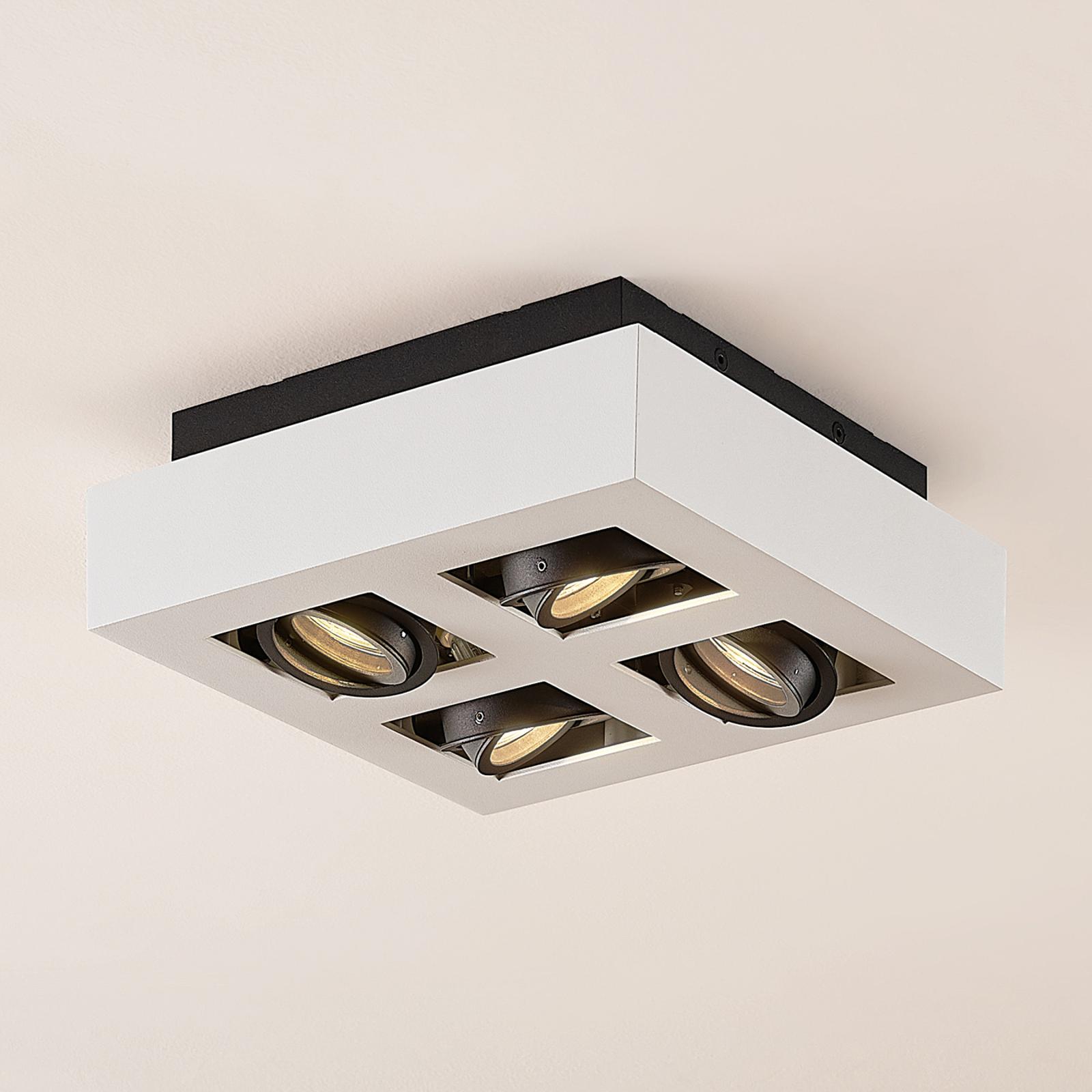 Arcchio Vince lampa sufitowa, 25 x 25 cm biała