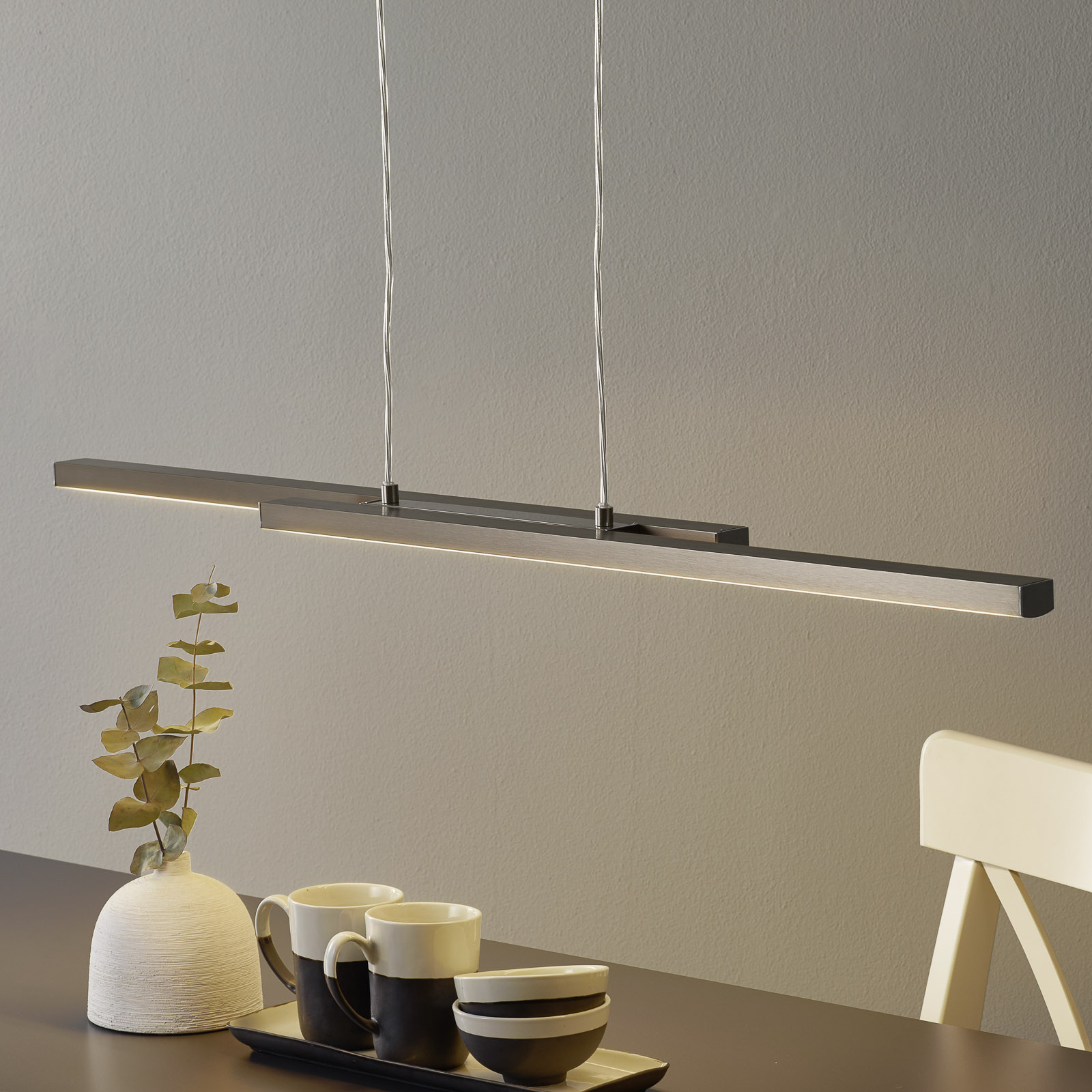 EGLO connect Fraioli-C LED-hengelampe, rettformet