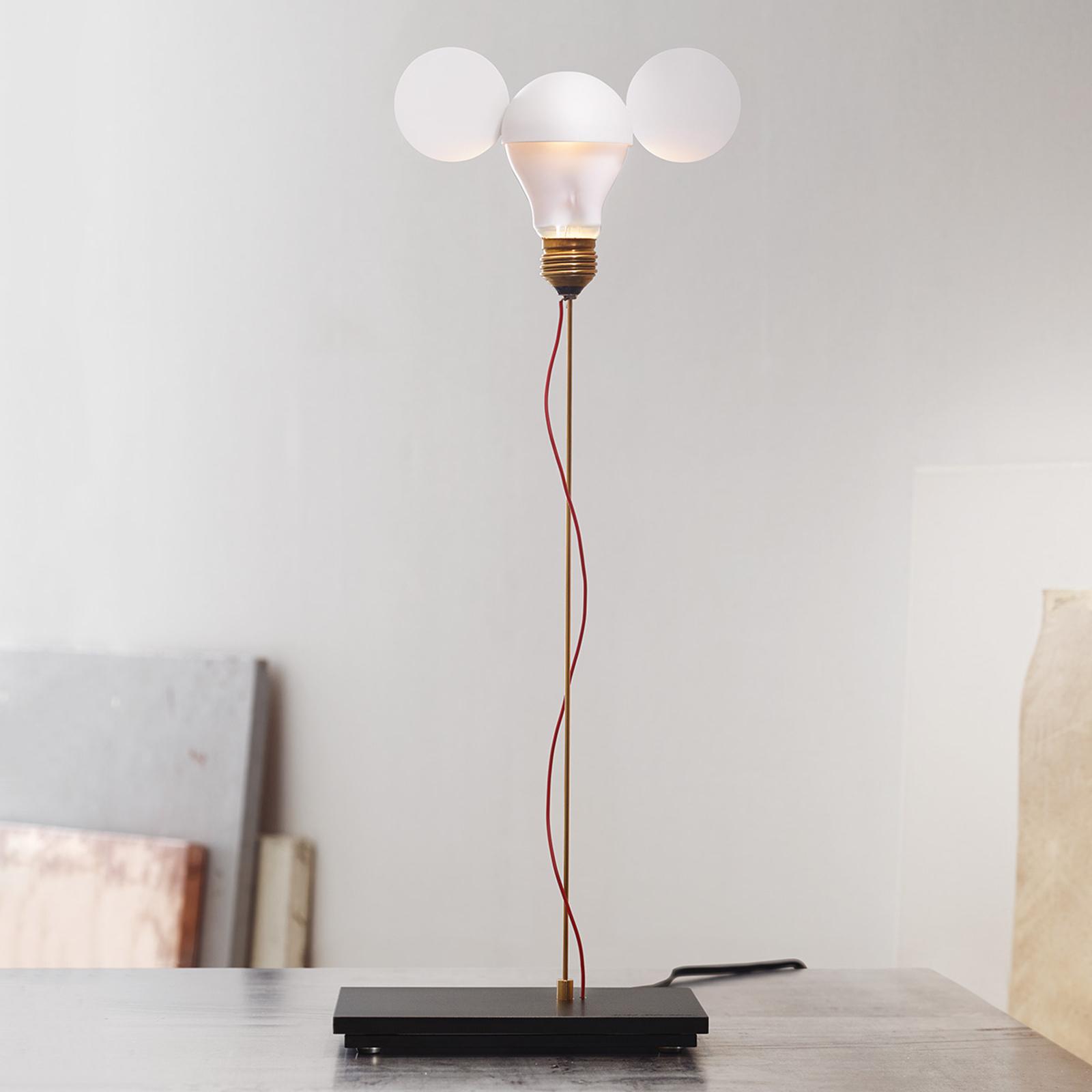 I Ricchi Poveri Toto - lampada da tavolo bianca