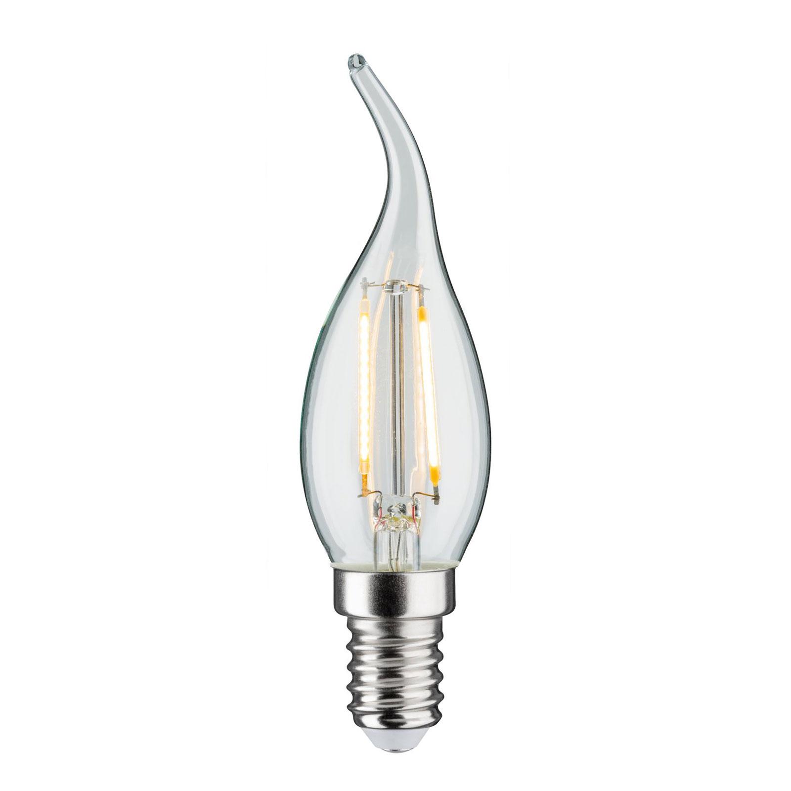 LED-Kerzenlampe E14 2,8W Fil. 2.700K Windstoß klar