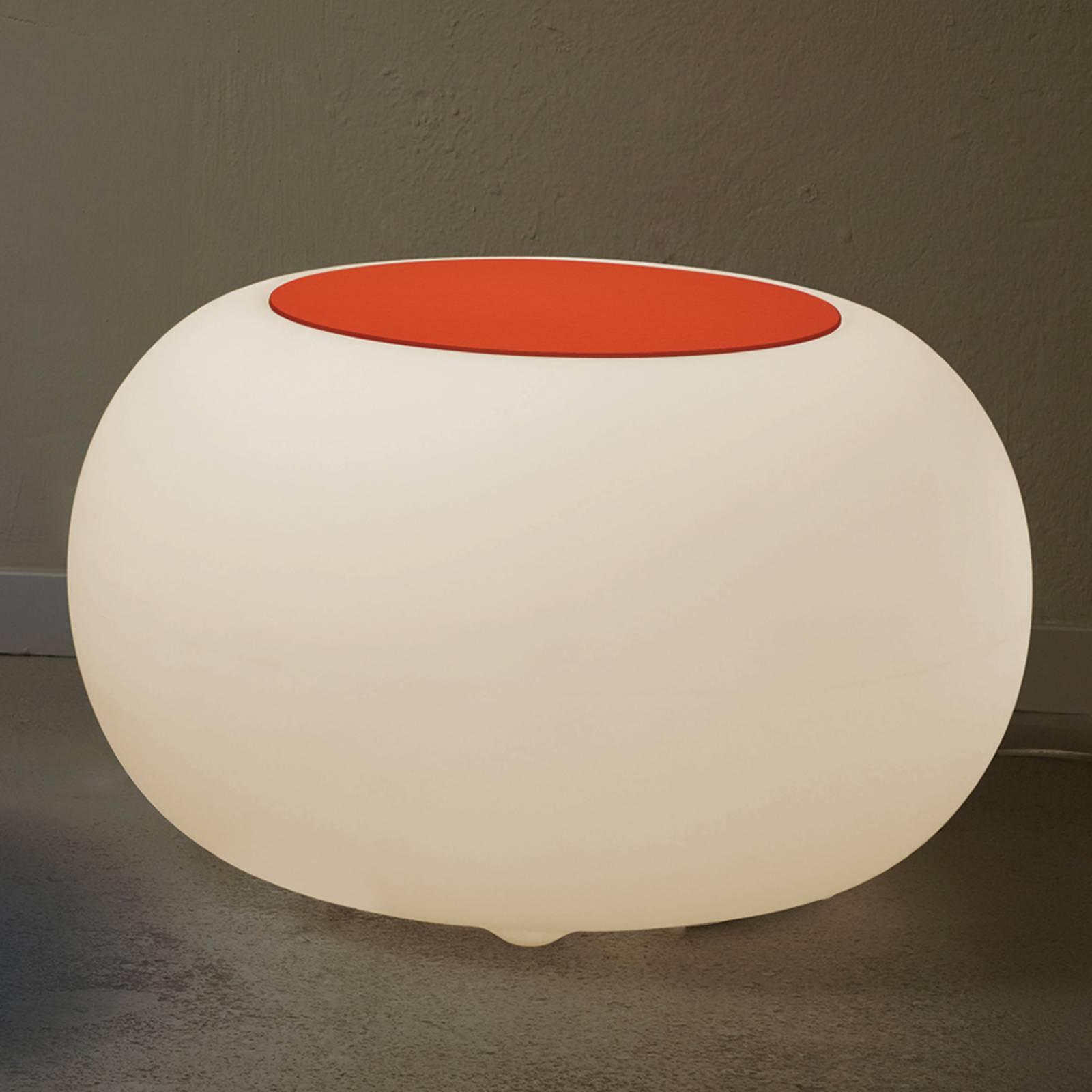 Table d'appoint BUBBLE LED RVB avec feutre orange