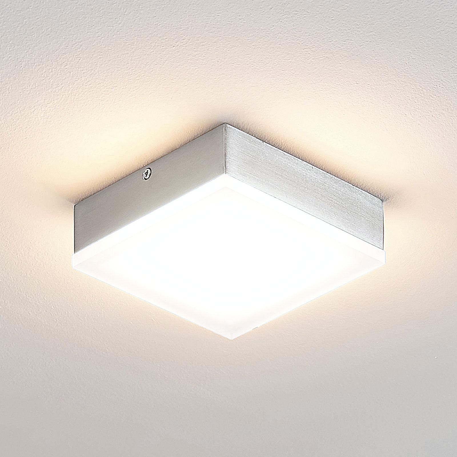 Lindby Tamito lampa sufitowa LED, nikiel, 12 cm