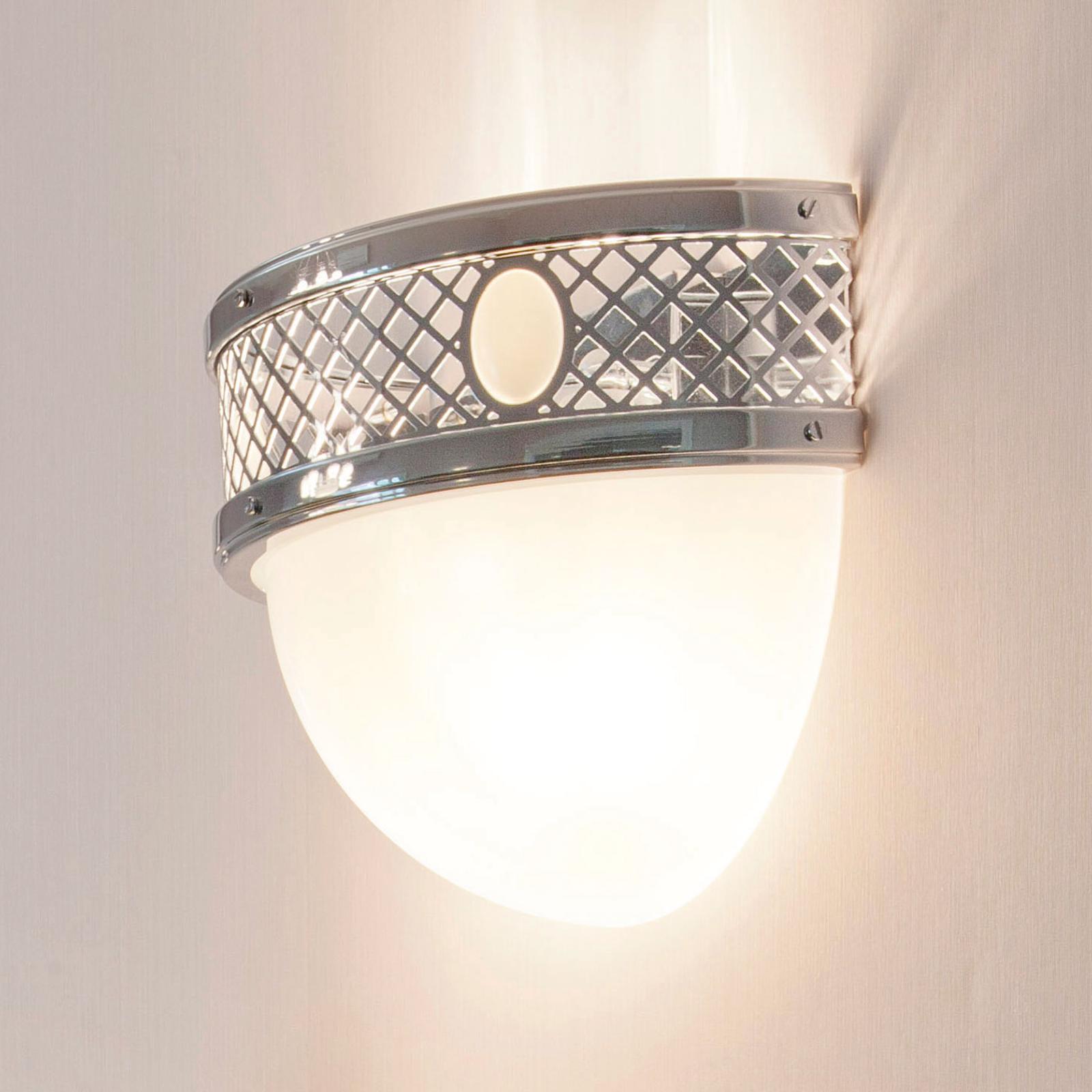 ALT WIEN - halfronde wandlamp, glanzend nikkel