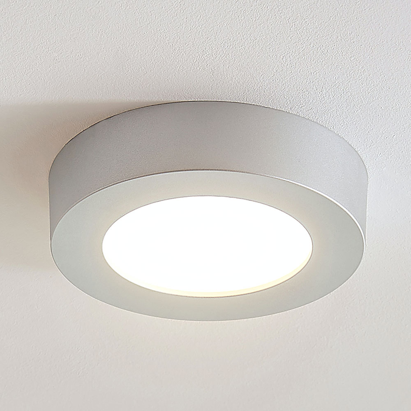LED-taklampe Marlo sølv 3 000K rund 18,2cm