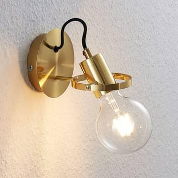 Lindby Mirtel væglampe i mat messing