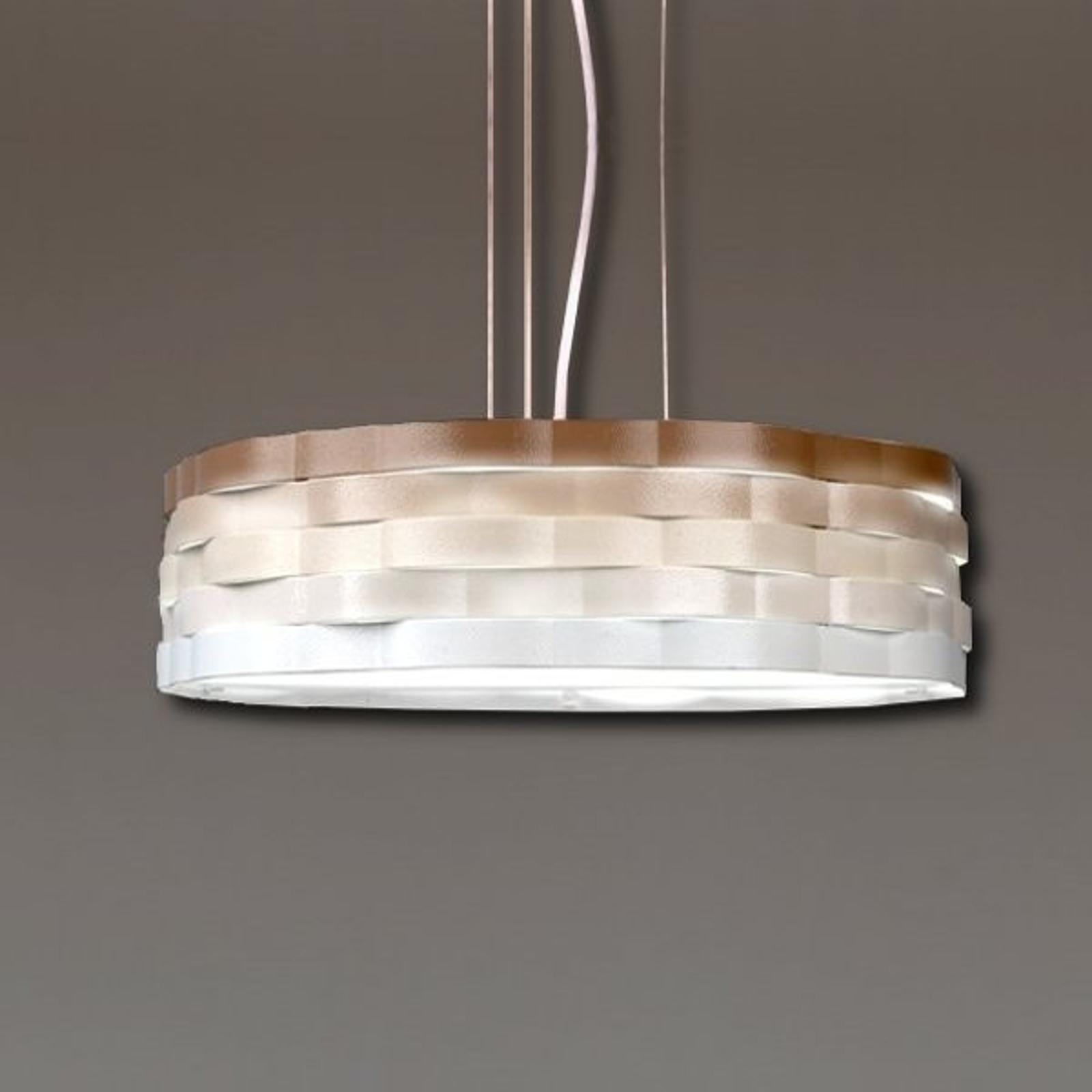 Flutti lampa wisząca z falistym kloszem kremowy