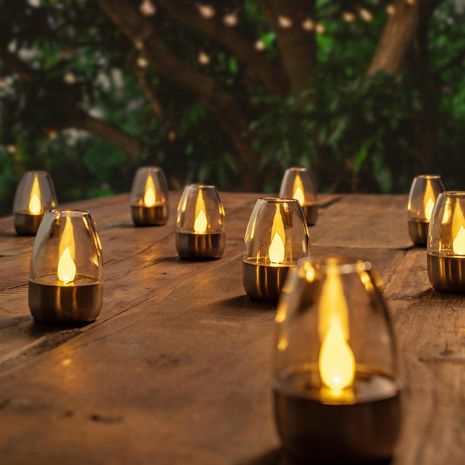 Fin solcelledrevet LED-Bordlampe Pedas, 10 stykker