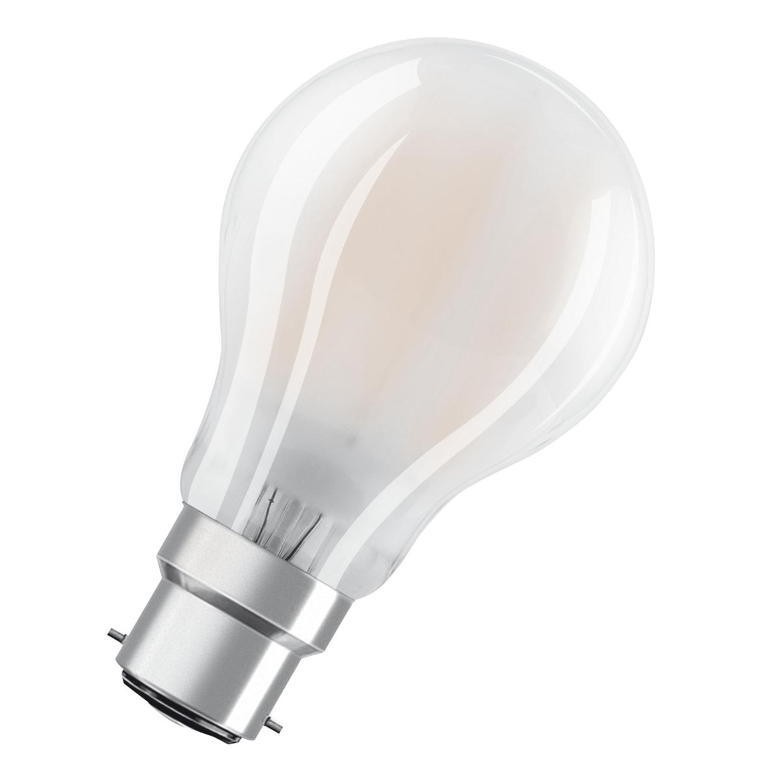 OSRAM LED-Lampe B22d Classic A 7W  2.700K matt
