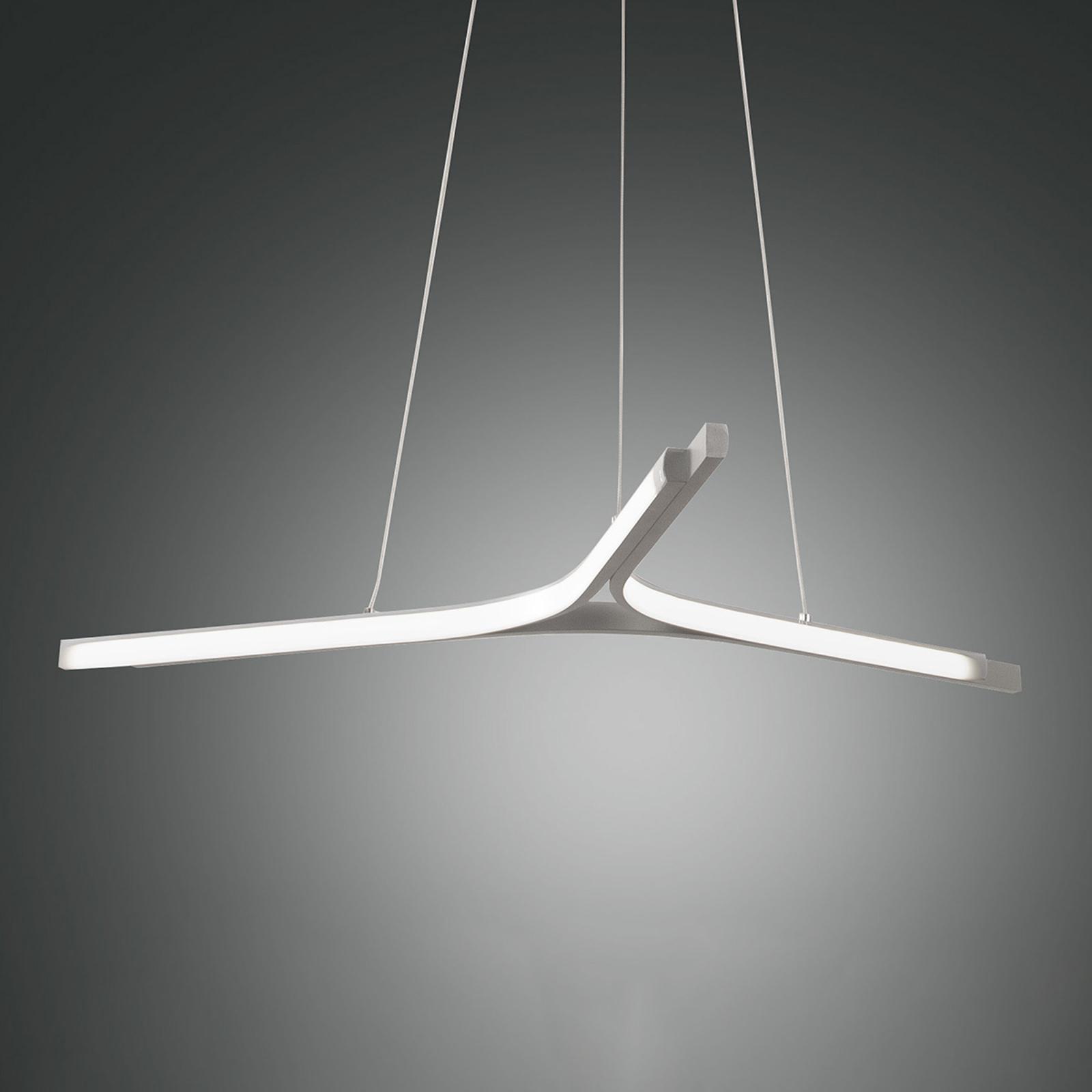 Suspension LED Lira, dimmable, argentée