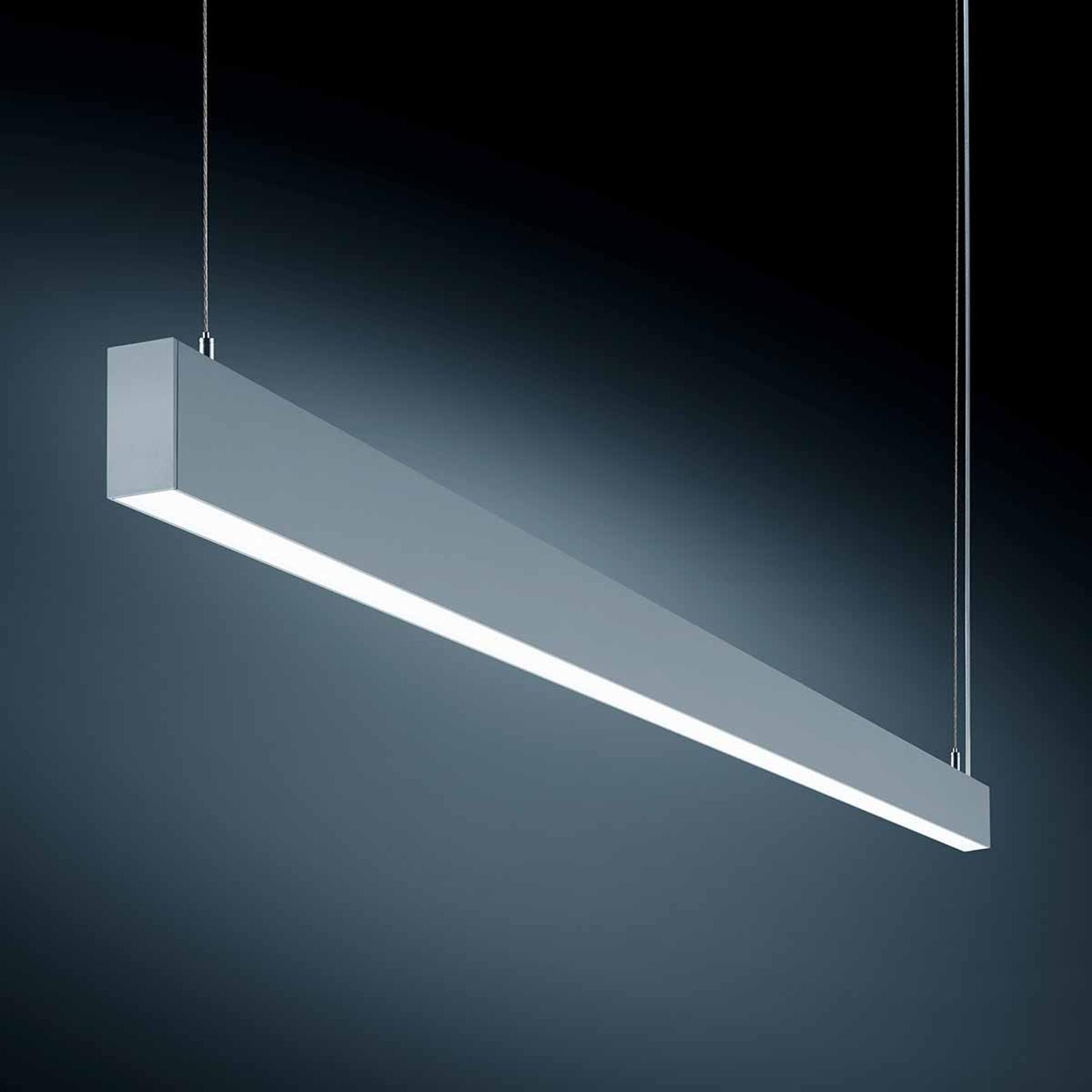 Wydajna lampa wisząca LED S55 srebrnoszara