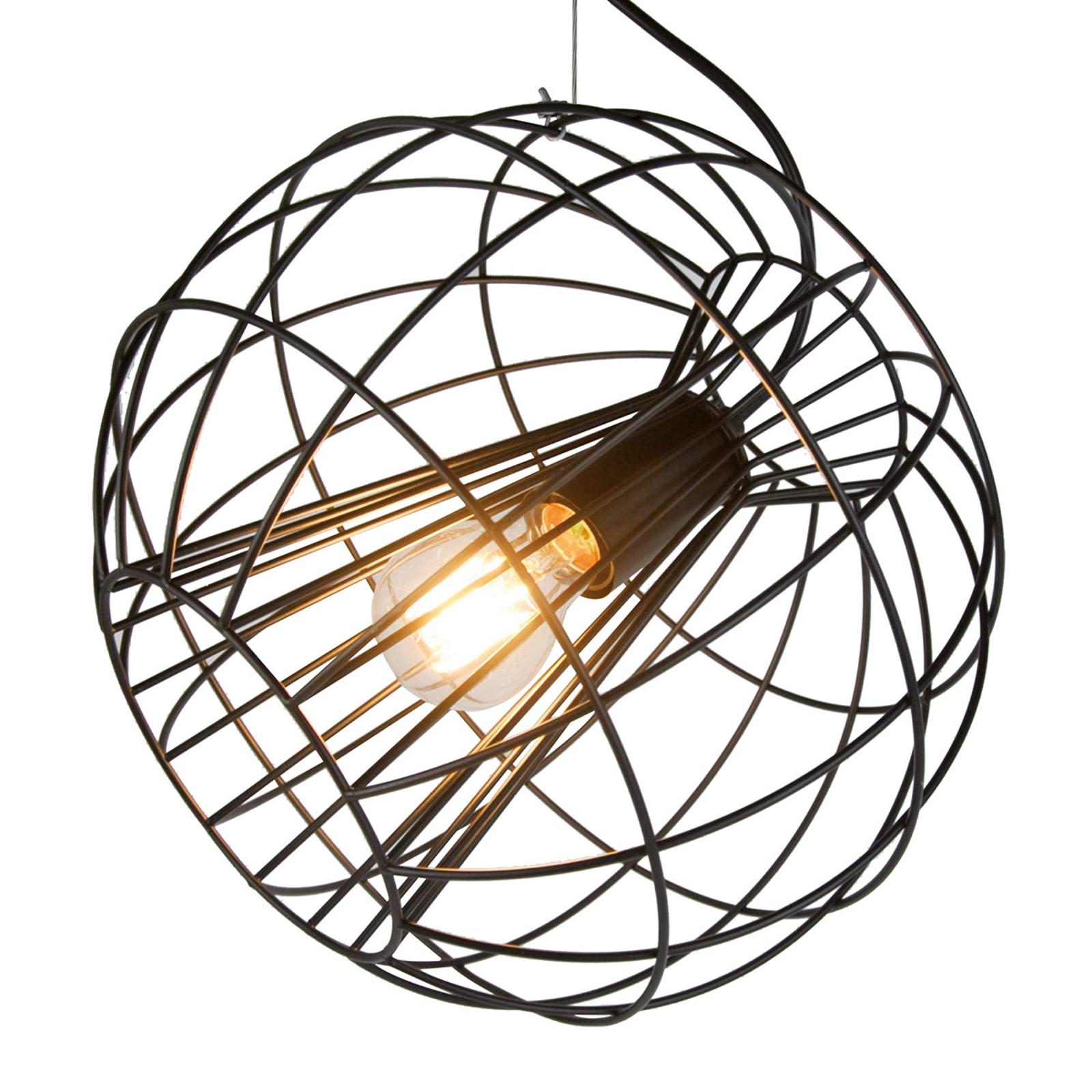 Lampa wisząca Pop z klatkowym kloszem czarna