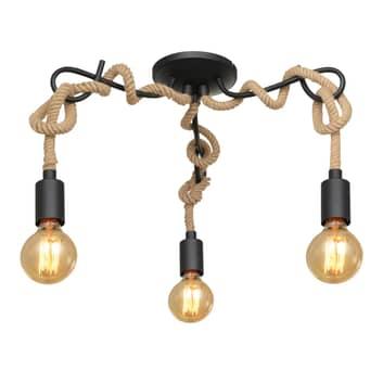 Lucande Ropina plafón, 3 luces