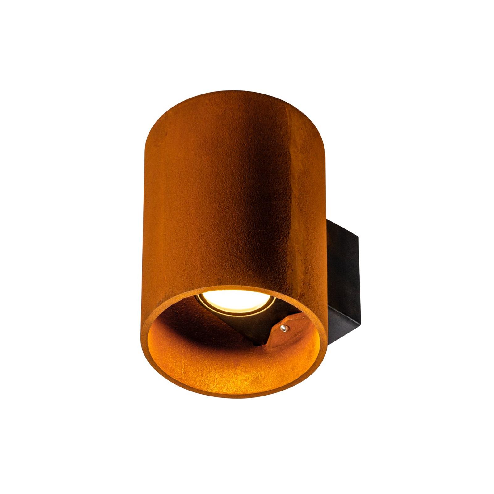 SLV Rusty LED-Außenwandleuchte up/down Zylinder