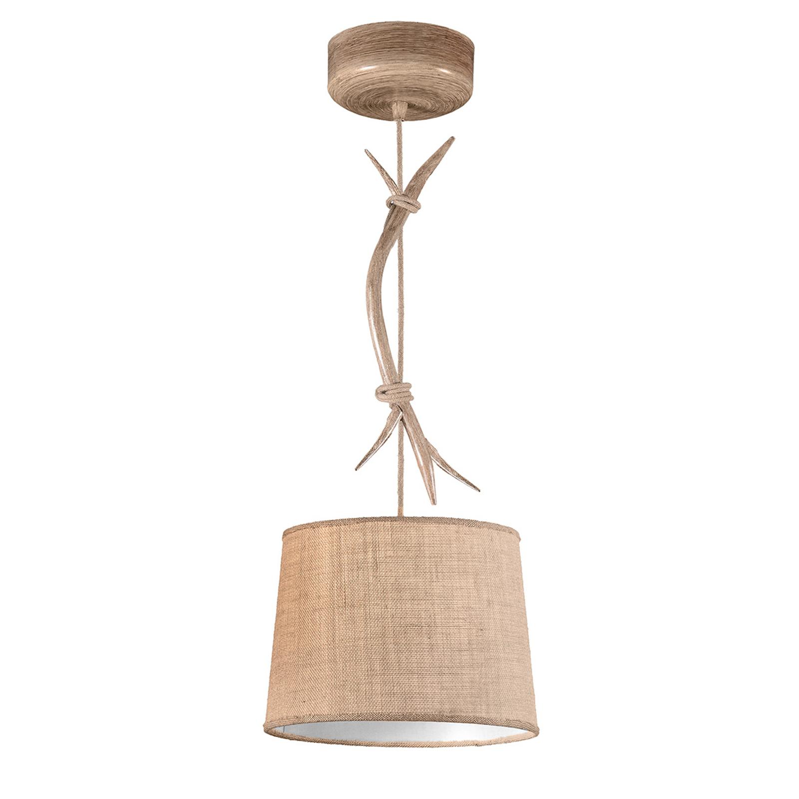 Suspension Sabina abat-jour tissu, 1 lampe, 30cm