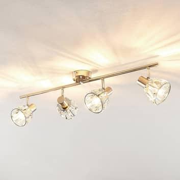Lindby Kosta plafondlamp, 4-lamps, nikkel