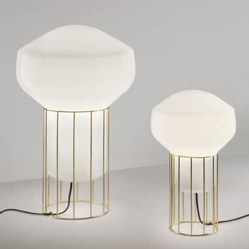 Designerska lampa stołowa Aérostat, mosiężna stopa