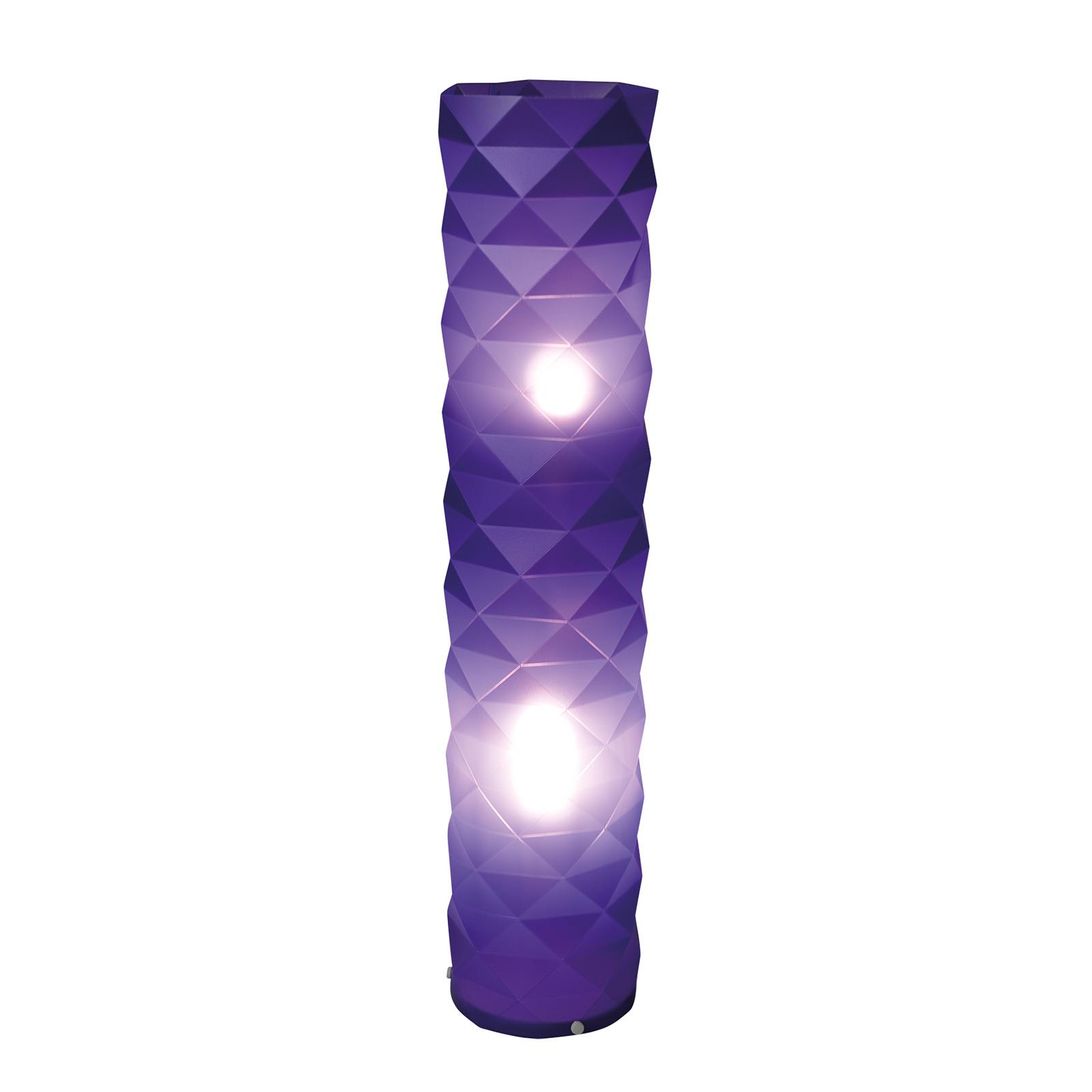 Vloerlamp Elia in paars met voetschakelaar