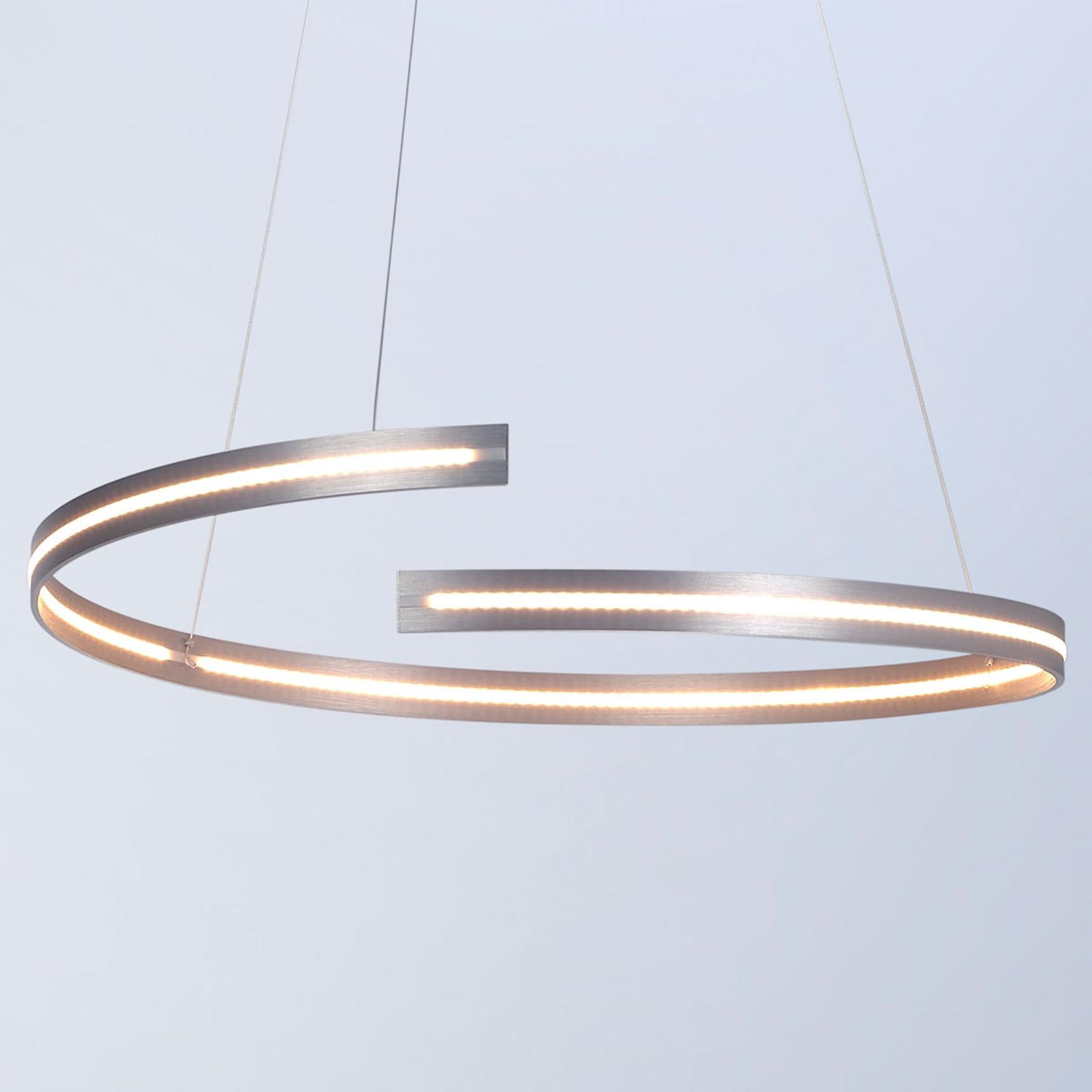 Bopp Break - lampa wisząca LED, 70 cm aluminium