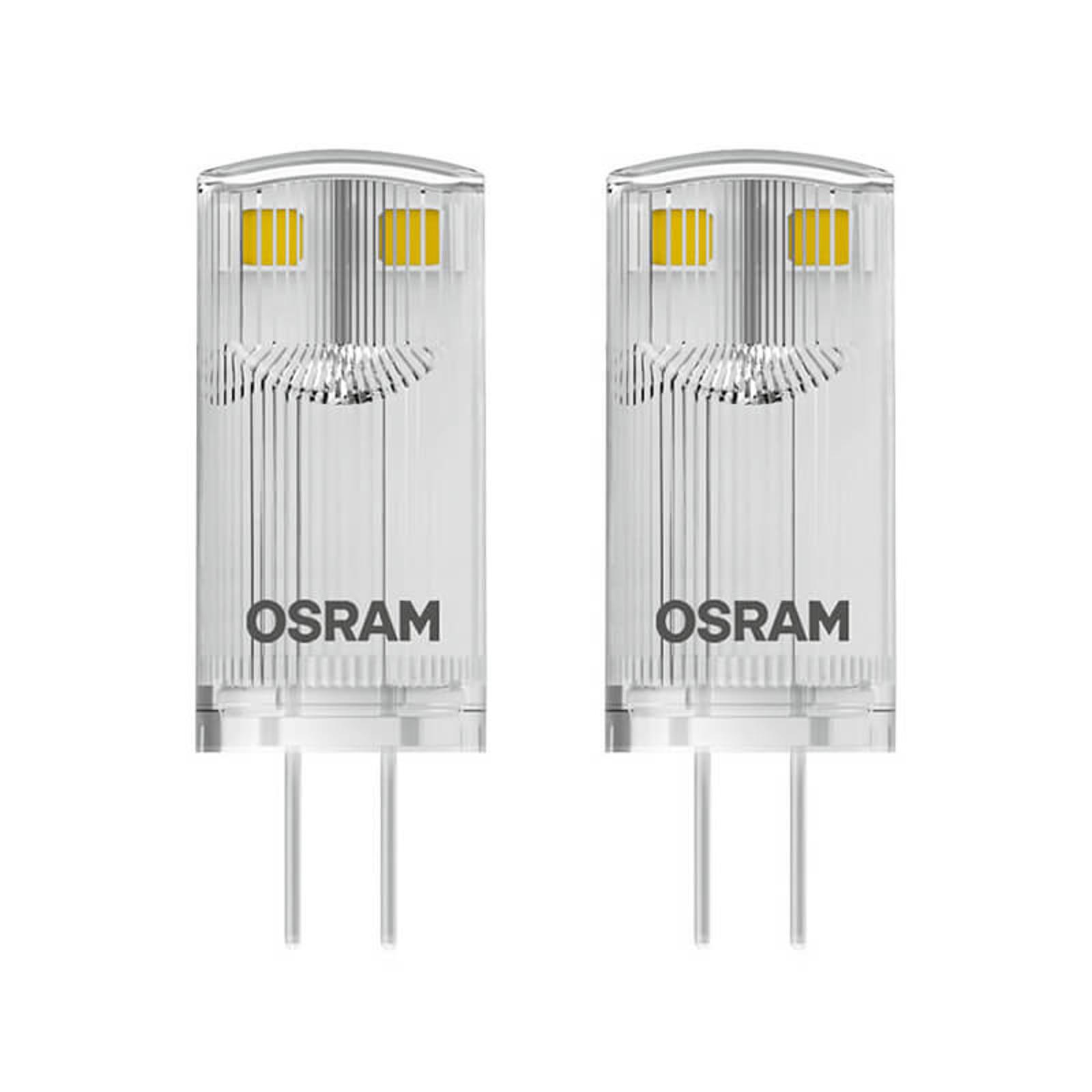 LED-stiftpære G4 0,9 W 827, 2-er-sett