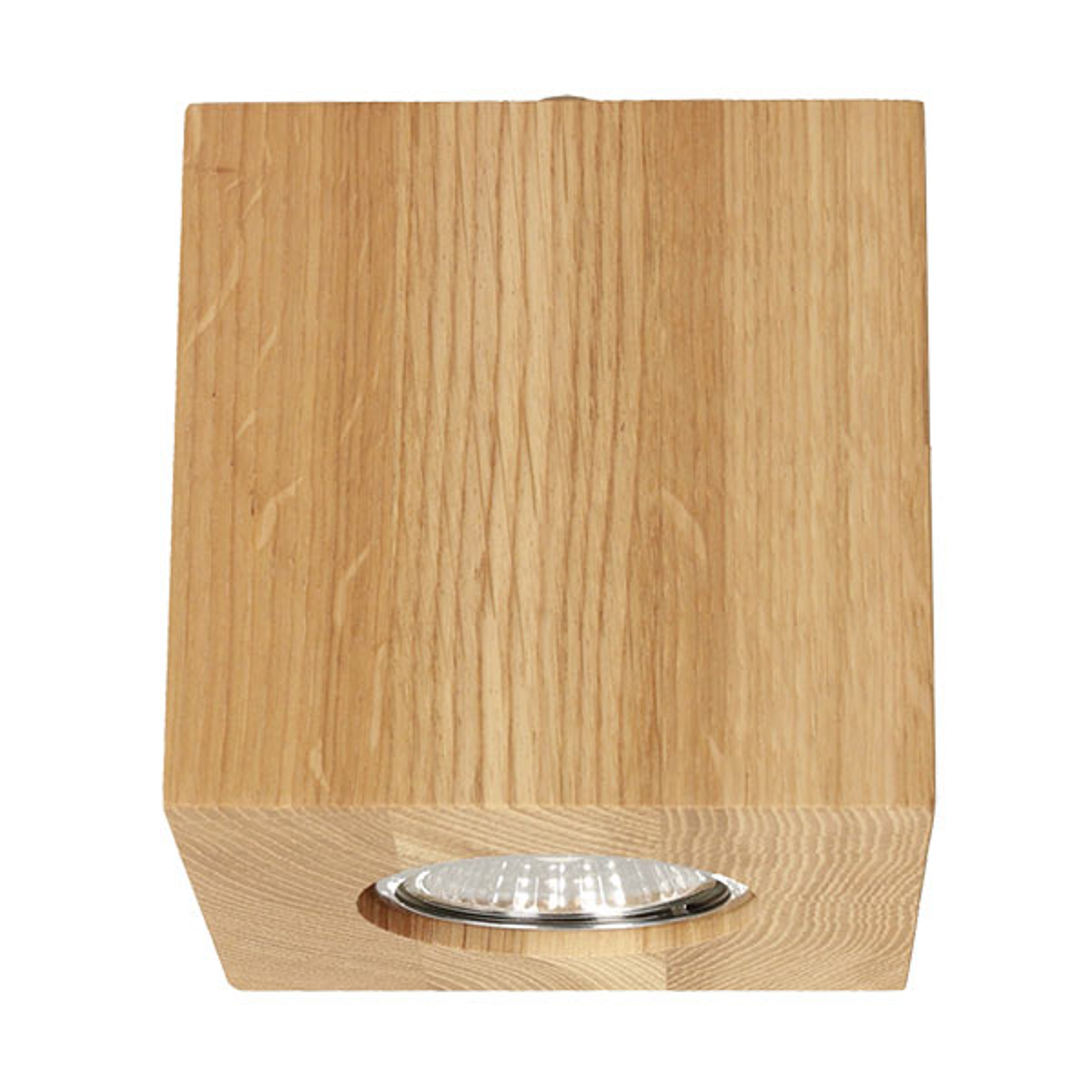 Deckenlampe Wooddream 1-flammig Eiche, eckig, 10cm