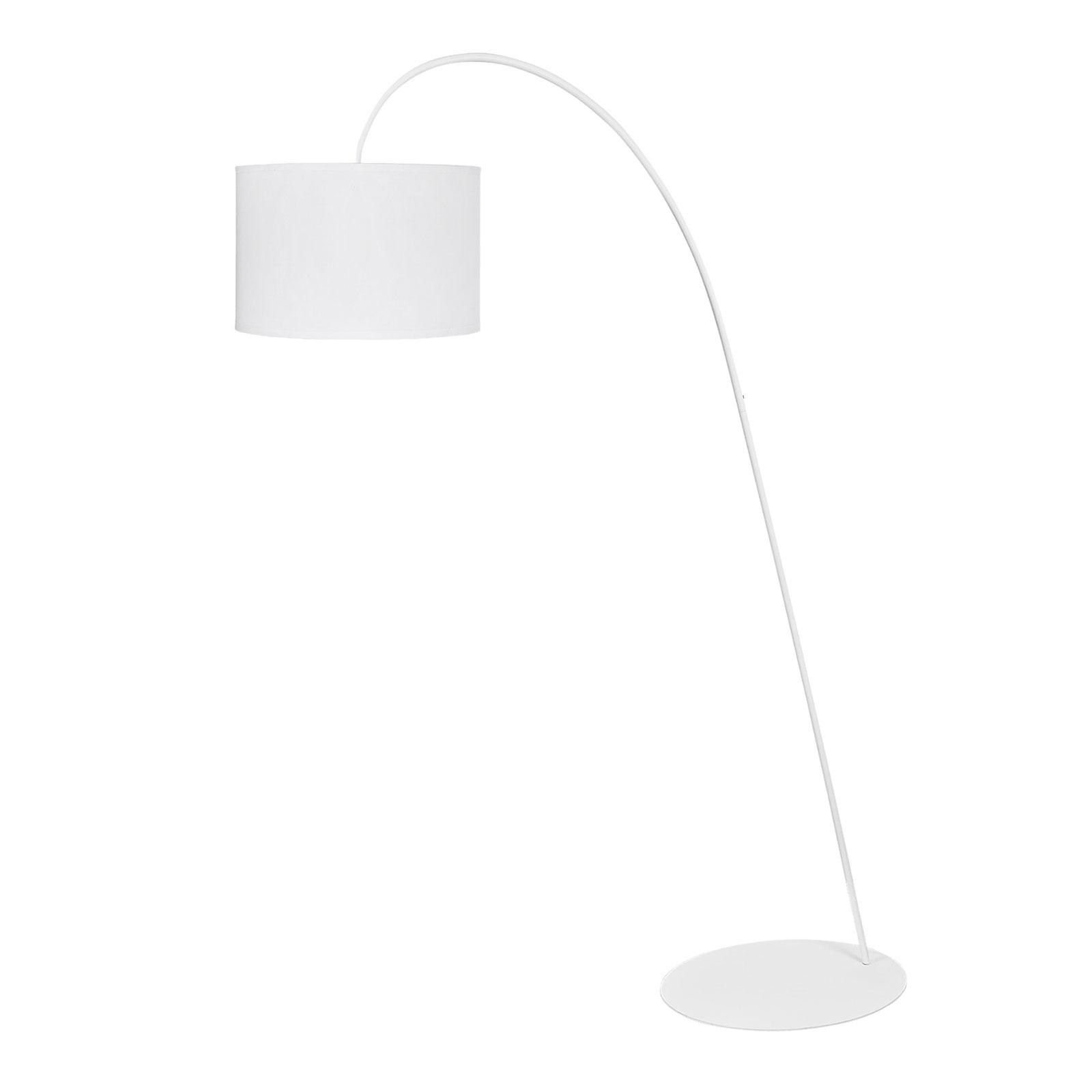 Lampa łukowa Alice z białym kloszem
