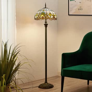 Lindby Audrey vloerlamp in Tiffany-stijl