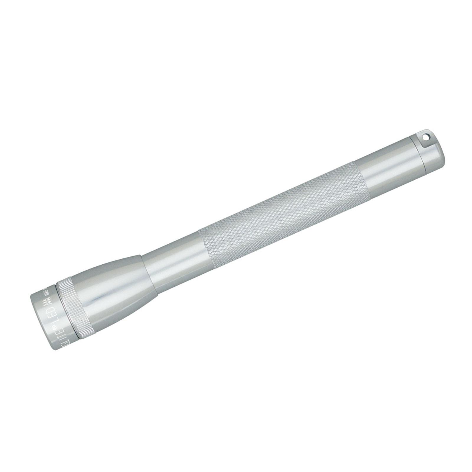 Mini Maglite plateada AAA linterna LED